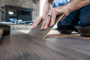 Installing aging-in-place kitchen flooring shouldn't be difficult when using vinyl planks.