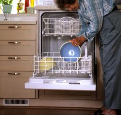 Raise the dishwasher to ease bending