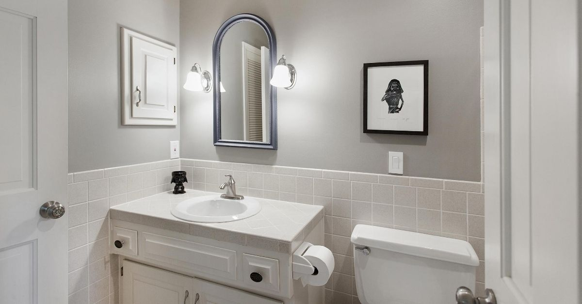 Install a sink and vanity for aging in place