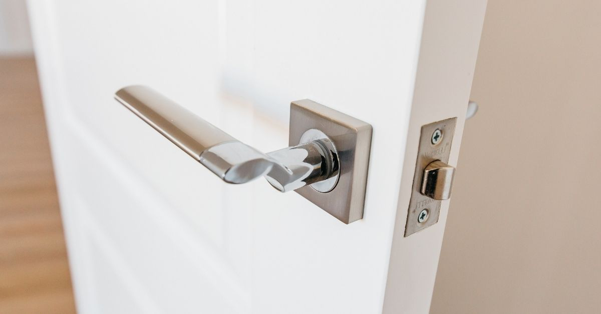 chrome door lever