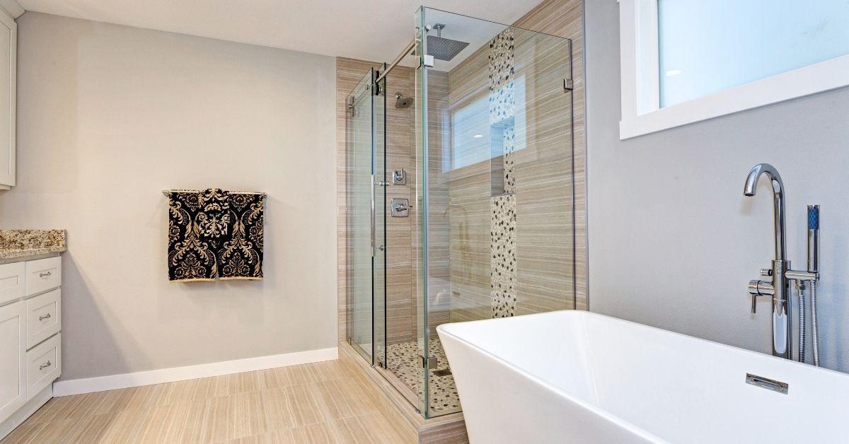 aging-in-place shower door